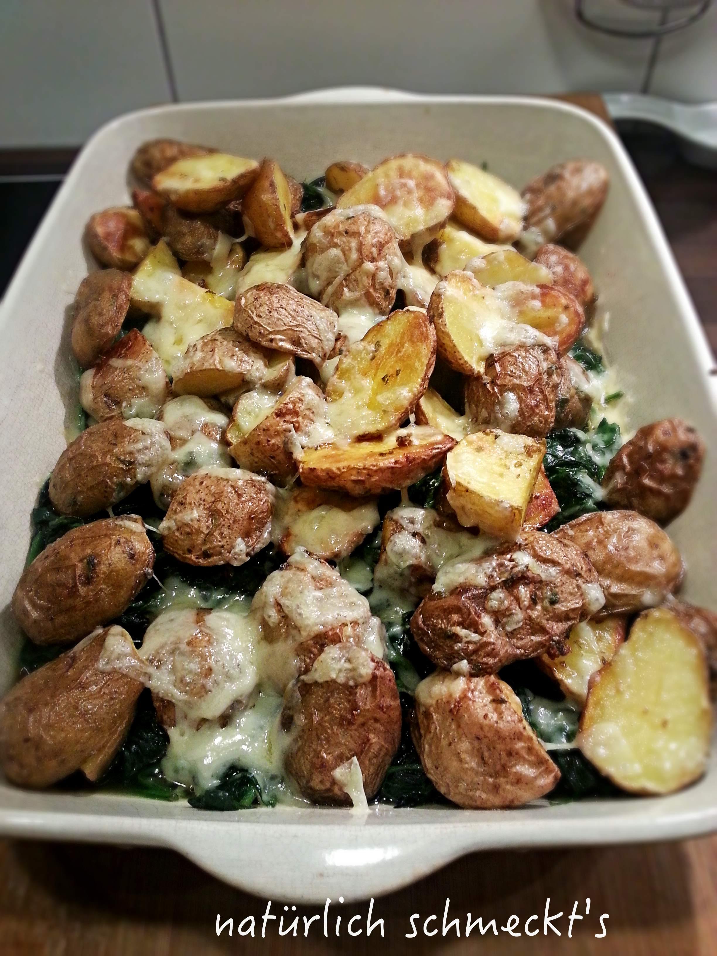 Spinat-Kartoffelgratin