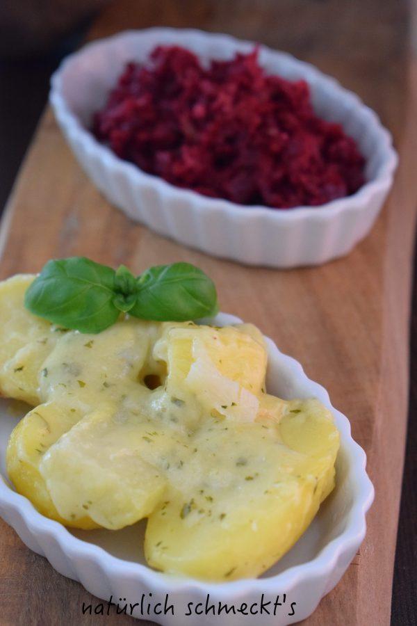 Kartoffel-Gratin mit Rote Bete-Salat